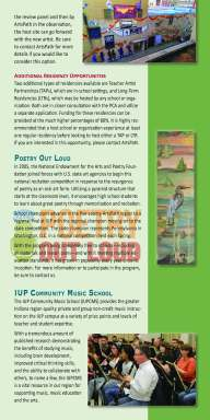 Inner page of AIE booklet, IUP