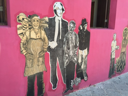 Wall mural, Old San Juan PR. Decoupage?